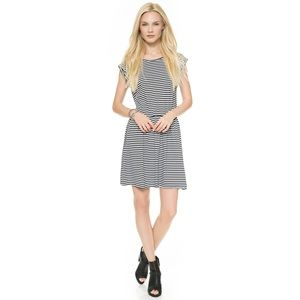 "JUST FEMALE ""Kill"" Black and White Striped Dress"